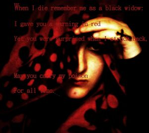 black widow three filter poem